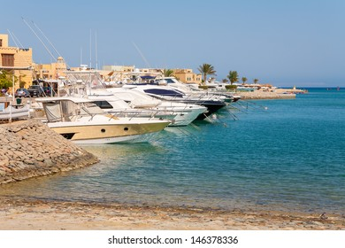 View of Abu Tig Marina. El Gouna, Red Sea, Egypt