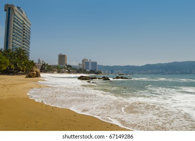 View of Acapulco Bay on a sunny day