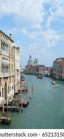 View from Accademia Bridge, Venice, Italy