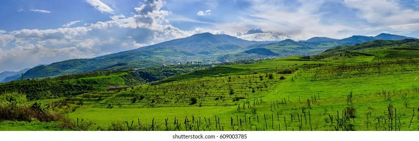 View of Achajur village in the Tavush Province of Armenia