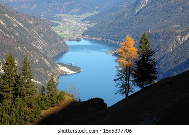 view of Achensee in autumn.