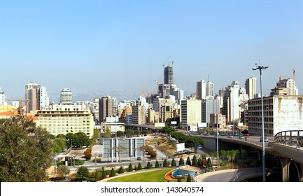 View of Achrafieh and Downtown Beirut, Lebanon