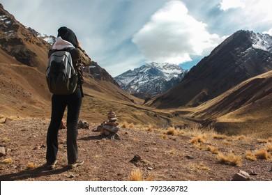 View to Aconcagua montain, Mendoza - Argentina