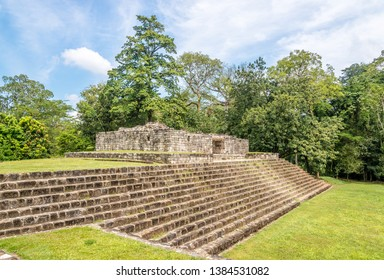 View at the Acropolis in ancient Maya archaeological site in Quirigua, Guatemala