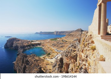 View of the Acropolis of Lindos, Rhodes