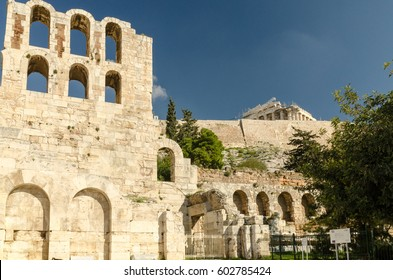View of Acropolis and Odeon of Herodes Atticus