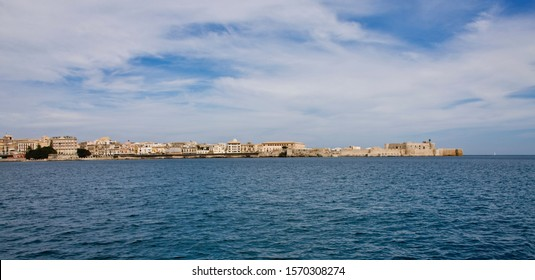View across the bay to Syracuse, Sicily, Italy