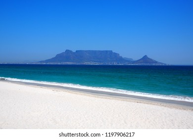 View across the bay to Table Mountain, Cape Town, South Africa