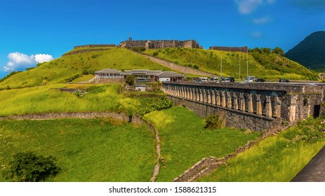 A view across Brimstone Hill Fort in St Kitts