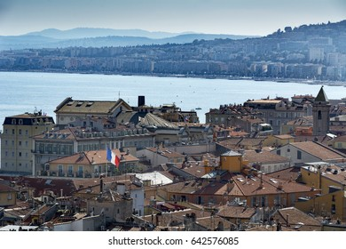 View across city of Nice on the French Riviera