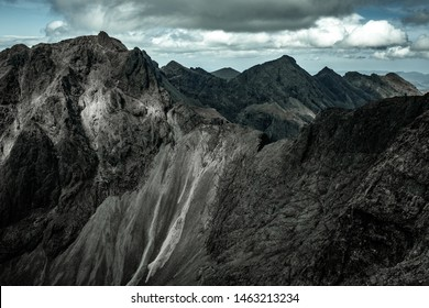 View across Coire Lagan of the Inaccessible Pinnacle and the Cuillin Ridge taken from Sgurr Alasdair