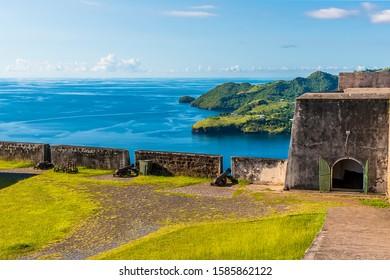 A view across Fort Charlotte, Kingstown. Saint Vincent