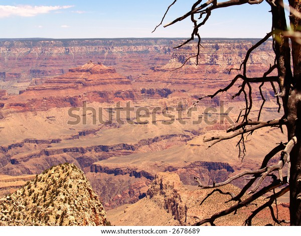 View across the Grand Canyon from Grandview Point on the South Rim