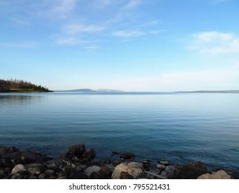 View across a lake - Yellowstone National Park