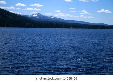 View across Payette lake near north shore, McCall Idaho