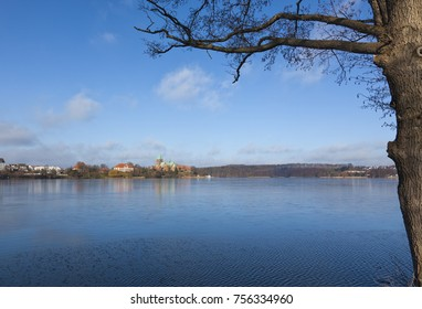 View across Ratzeburg Lake to the cathedral
