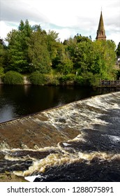 A view across the river Ericht in Blairgowrie, Perthshire