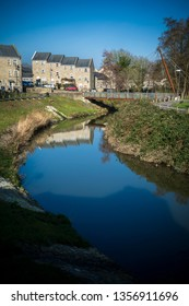View across the river in Frome in Somerset