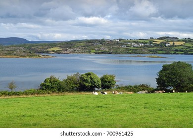 A view across Roaring Water Bay near Ballydehob, West Cork in Ireland.