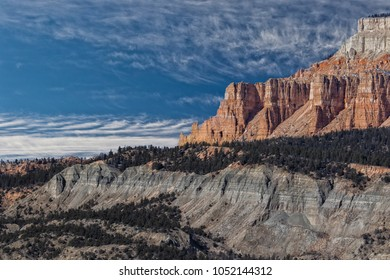 View across the rugged desert mountains of the Grand Staircase Escalante National Monument in southern Utah.