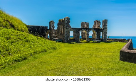 A view across the southern side of Brimstone Hill Fort in St Kitts