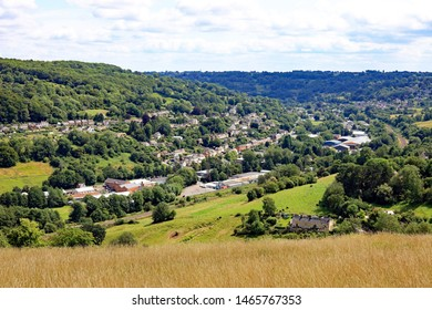 View Across The Stroud Valley In Gloucestershire Making Up Part Of The Cotswolds. England. UK
