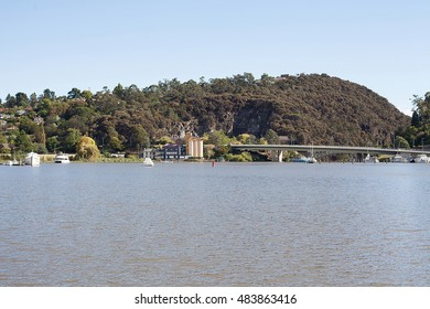 View across the Tamar River, Launceston, Tasmania, towards the Patterson Bridge