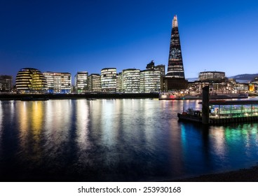 View across the Thames to The Shard and City Hall