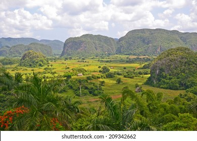 view across the Vinales Valley in Cuba