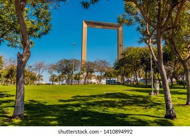 A view across Zabeel Park in Dubai, UAE in springtime