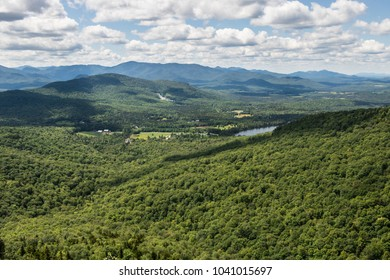 View of the Adirondack Mountains from Pitchoff Mountain in Keene, NY