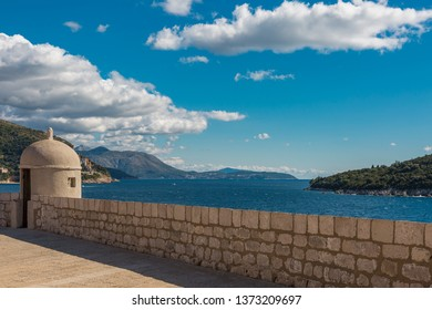 View of the Adriatic islands near Dubrovnik