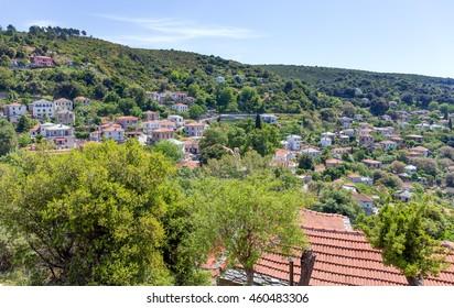 View of Afetes village, Pelio, Greece
