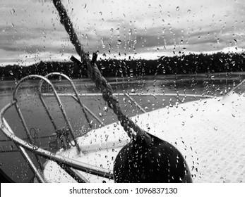 View after rain from sea truck boat's window, Tandjung Keramat, September 3, 2017