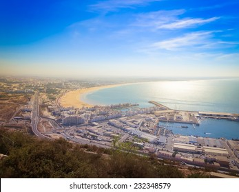 A view of Agadir from the mountain