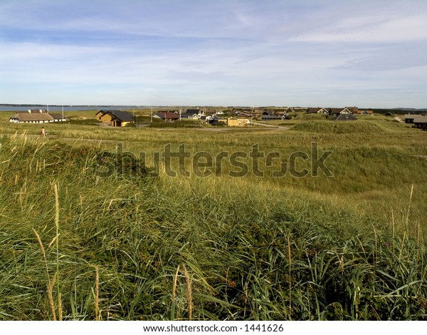view of Agger village, western Jutland, Denmark