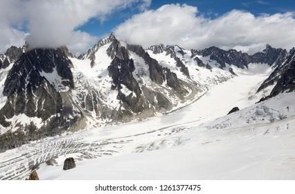 View from Aiguille des Grands Montets (Argentière,Chamonix, France)