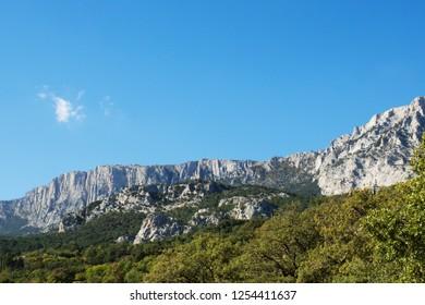 View of the Ai-Petri Mountains. Republic of Crimea. Russian Federation.