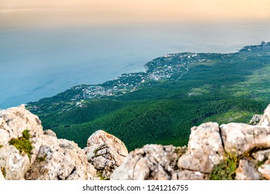 View of Ai-Petri, a peak in the Crimean Mountains