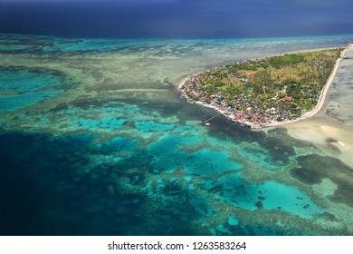 A view from the air of Cabulan Island near Cebu, Philippines.
