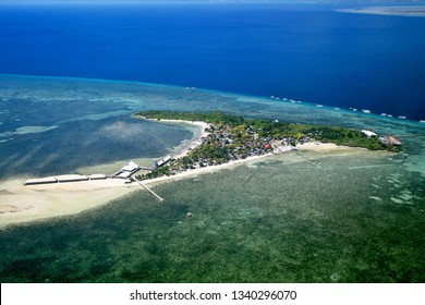 A view from the air of Hilutnagan Island near Cebu, Philippines.