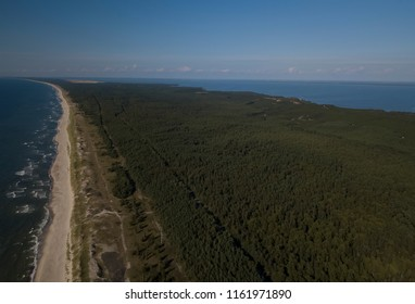 View from the air on the Curonian spit