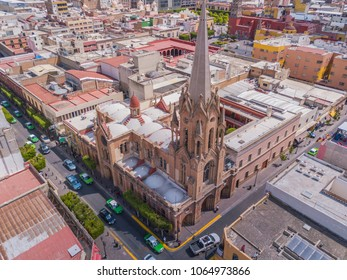 view air panoramic Temple Immaculate heart of Mary in the heart of Leon Guanajuato