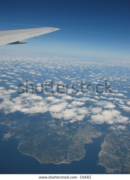 View from an airplane.