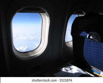 View from the airplane seat