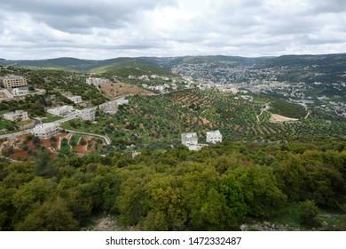 View of Ajloun from Ajloun Castle, Jordan