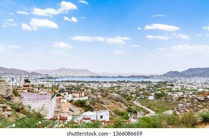 View of Ajmer City and Ana Sagar Lake