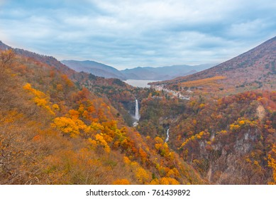 View from Akechidaira view point in Nikko, Japan. Tourist can go to this point by Akechidaira Ropeway