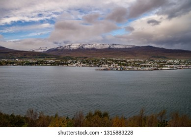 View of Akureyri in Iceland