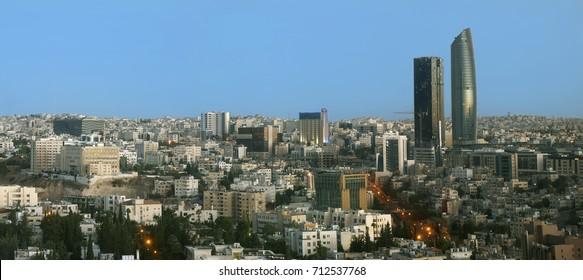 view of Al Abdali the new downtown of Amman Jordan